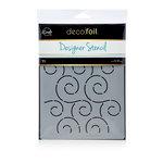 Therm O Web - iCraft - Deco Foil - 6 x 8 - Designer Stencil - Swirls