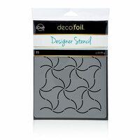 Therm O Web - iCraft - Deco Foil - 6 x 8 - Designer Stencil - Pinwheels