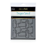 Therm O Web - iCraft - Deco Foil - 6 x 8 - Designer Stencil - Modern Links