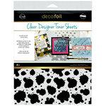 Therm O Web - iCraft - Deco Foil - 8.5 x 11 - Clear Designer Toner Sheets - Splatter - 4 Pack