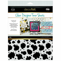 Therm O Web - iCraft - Deco Foil - 8.5 x 11 - Clear Designer Toner Sheets - Splatter - 4 Pack