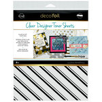 Therm O Web - iCraft - Deco Foil - 8.5 x 11 - Clear Designer Toner Sheets - Pinstripes - 4 Pack