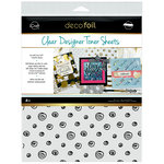 Therm O Web - iCraft - Deco Foil - 8.5 x 11 - Clear Designer Toner Sheets - Doodles - 4 Pack