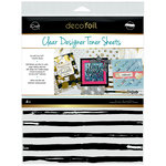 Therm O Web - iCraft - Deco Foil - 8.5 x 11 - Clear Designer Toner Sheets - Distressed Lines - 4 Pack
