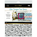 Therm O Web - iCraft - Deco Foil - 8.5 x 11 - Clear Designer Toner Sheets - Floral Sketch - 4 Pack