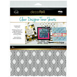 Therm O Web - iCraft - Deco Foil - 8.5 x 11 - Clear Designer Toner Sheets - Groovy - 4 Pack