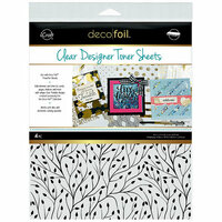 Therm O Web - iCraft - Deco Foil - 8.5 x 11 - Clear Designer Toner Sheets - Branching Out - 4 Pack