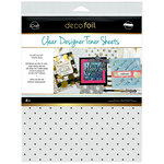 Therm O Web - iCraft - Deco Foil - 8.5 x 11 - Clear Designer Toner Sheets - Polka Dots - 4 Pack