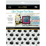 Therm O Web - iCraft - Halloween - Deco Foil - 8.5 x 11 - Clear Designer Toner Sheets - Pumpkin Patch