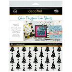 Therm O Web - iCraft - Christmas - Deco Foil - 8.5 x 11 - Clear Designer Toner Sheets - O' Christmas Tree