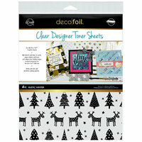 Therm O Web - iCraft - Christmas - Deco Foil - 8.5 x 11 - Clear Designer Toner Sheets - Rustic Winter