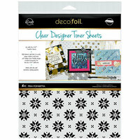 Therm O Web - iCraft - Christmas - Deco Foil - 8.5 x 11 - Clear Designer Toner Sheets - Prim Poinsettia