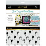 Therm O Web - iCraft - Christmas - Deco Foil - 8.5 x 11 - Clear Designer Toner Sheets - Cheers