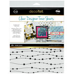 Therm O Web - iCraft - Christmas - Deco Foil - 8.5 x 11 - Clear Designer Toner Sheets - Starry Night