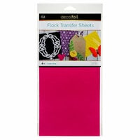 Therm O Web - iCraft - Deco Foil - 6 x 12 Flock Transfer Sheets - Think Pink - 4 Pack