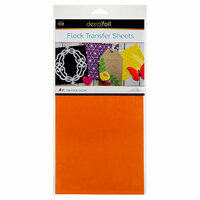 Therm O Web - iCraft - Deco Foil - 6 x 12 Flock Transfer Sheets - Orange Glow - 4 Pack