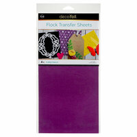Therm O Web - iCraft - Deco Foil - 6 x 12 Flock Transfer Sheets - Purple Punch - 4 Pack