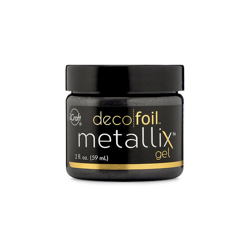 Therm O Web - iCraft - Deco Foil - Metallix Gel - 2 Ounces - Black Ice