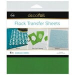 Therm O Web - iCraft - Deco Foil - 6 x 6 Flock Transfer Sheets - Emerald Green - 6 Pack