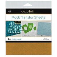 Therm O Web - iCraft - Deco Foil - 6 x 6 Flock Transfer Sheets - Tuscan Gold - 6 Pack