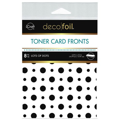 Therm O Web - iCraft - Deco Foil - White Toner Sheets - 4.25 x 5.5 - Lots of Dots - 8 pack