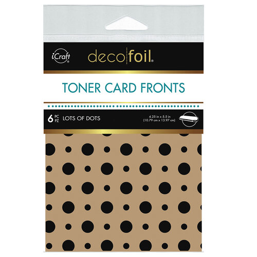 Therm O Web - iCraft - Deco Foil - Kraft Toner Sheets - 4.25 x 5.5 - Lots of Dots - 6 pack