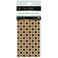 Therm O Web - iCraft - Deco Foil - Kraft Toner Sheets - 4 x 9 - Lots of Dots - 4 pack