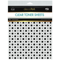 Therm O Web - iCraft - Deco Foil - Clear Toner Sheets - 8.5 x 11 - Lots of Dots - 2 pack