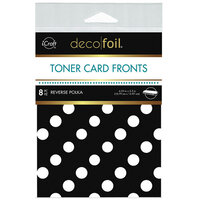 Therm O Web - iCraft - Deco Foil - White Toner Sheets - 4.25 x 5.5 - Reverse Polka - 8 pack