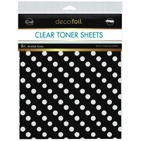 Therm O Web - iCraft - Deco Foil - Clear Toner Sheets - 8.5 x 11 - Reverse Polka - 2 pack
