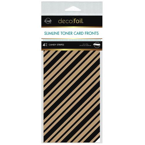 Therm O Web - iCraft - Deco Foil - Kraft Toner Sheets - Slimline - 4 x 9 - Candy Stripes - 4 pack