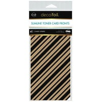 Therm O Web - iCraft - Deco Foil - Kraft Toner Sheets - Slimline - 4 x 9 - Candy Stripes - 4 pack