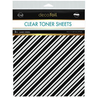 Therm O Web - iCraft - Deco Foil - Clear Toner Sheets - 8.5 x 11 - Candy Stripes - 2 pack