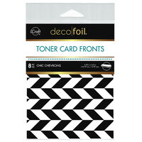 Therm O Web - iCraft - Deco Foil - White Toner Sheets - 4.25 x 5.5 - Chic Chevrons - 8 pack