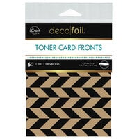 Therm O Web - iCraft - Deco Foil - Kraft Toner Sheets - 4.25 x 5.5 - Chic Chevrons - 6 pack