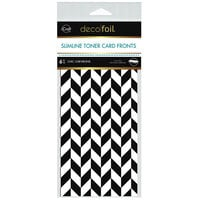 Therm O Web - iCraft - Deco Foil - White Toner Sheets - 4 x 9 - Chic Chevrons - 6 pack