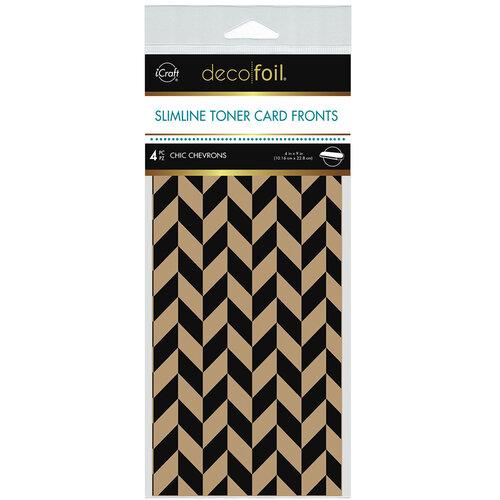 Therm O Web - iCraft - Deco Foil - Kraft Toner Sheets - Slimline - 4 x 9 - Chic Chevrons - 4 pack