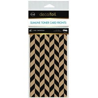 Therm O Web - iCraft - Deco Foil - Kraft Toner Sheets - Slimline - 4 x 9 - Chic Chevrons - 4 pack
