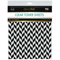 Therm O Web - iCraft - Deco Foil - Clear Toner Sheets - 8.5 x 11 - Chic Chevrons - 2 pack