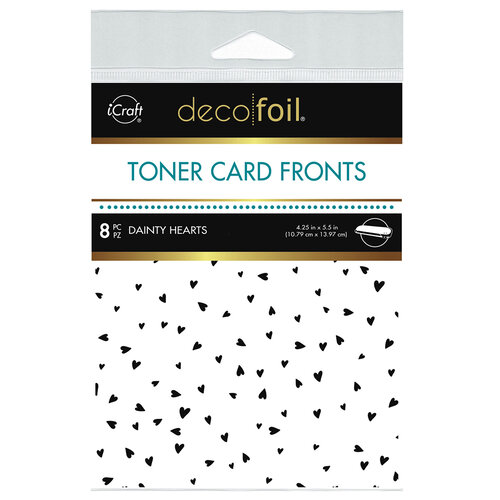 Therm O Web - iCraft - Deco Foil - White Toner Sheets - 4.25 x 5.5 - Dainty Hearts - 8 pack