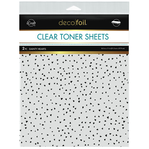 Therm O Web - iCraft - Deco Foil - Clear Toner Sheets - 8.5 x 11 - Dainty Hearts - 2 pack
