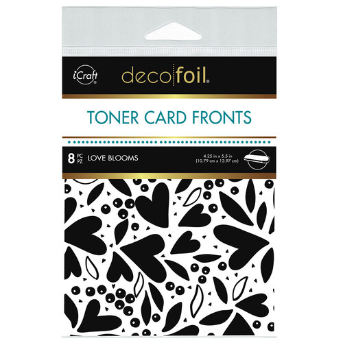 Therm O Web - iCraft - Deco Foil - White Toner Sheets - 4.25 x 5.5 - Love Blooms - 8 pack