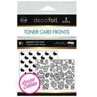 Therm O Web - iCraft - Deco Foil - White Toner Sheets - 4.25 x 5.5 - Basket Of Fun - 8 Pack