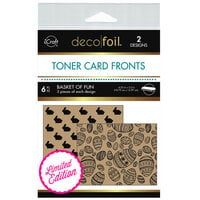 Therm O Web - iCraft - Deco Foil - Kraft Toner Sheets - 4.25 x 5.5 - Basket Of Fun - 6 Pack