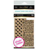 Therm O Web - iCraft - Deco Foil - Kraft Toner Sheets - 4 x 9 - Basket Of Fun - 4 Pack