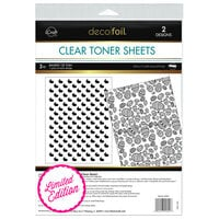 Therm O Web - iCraft - Deco Foil - Clear Toner Sheets - 8.5 x 11 - Basket Of Fun - 2 Pack