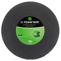 Therm O Web - 3D Adhesive Foam Tape - Jumbo Rolls - Black - .5 Inch