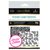 Therm O Web - iCraft - Deco Foil - White Toner Sheets - 4.25 x 5.5 - Blossom Buddies - 8 pack