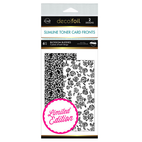 Therm O Web - iCraft - Deco Foil - White Toner Sheets - 4 x 9 - Blossom Buddies - 6 pack