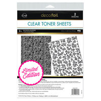 Therm O Web - iCraft - Deco Foil - Clear Toner Sheets - 8.5 x 11 - Blossom Buddies - 2 pack